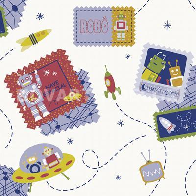 Papel de parede selos postais