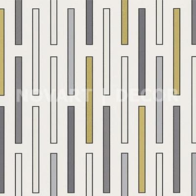 Papel de parede - Geométrico vertical dourado com prata