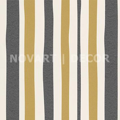 Papel de parede - Geométrico vertical dourado com chumbo