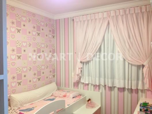Cortina de tecido para quarto infantil