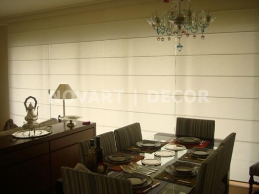 Cortina romana sala de jantar