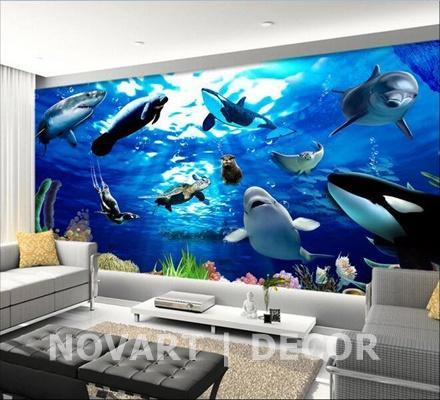 Painel fotográfico baleias
