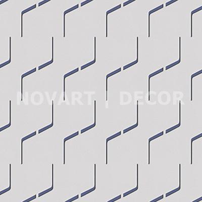 Papel de parede com lista diagonal azul