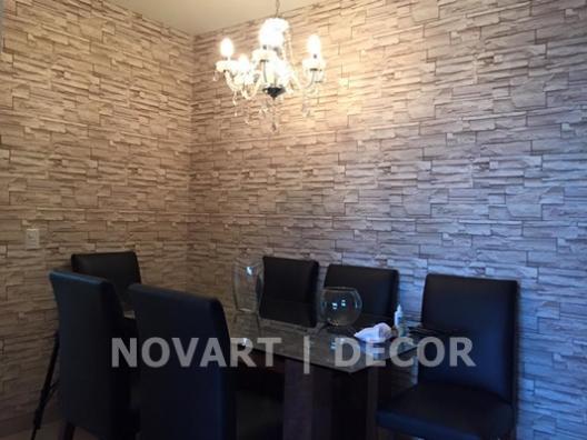 Papel de parede rústico para sala de jantar