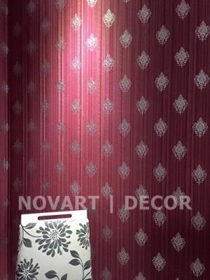Papel de parede vermelho com prata