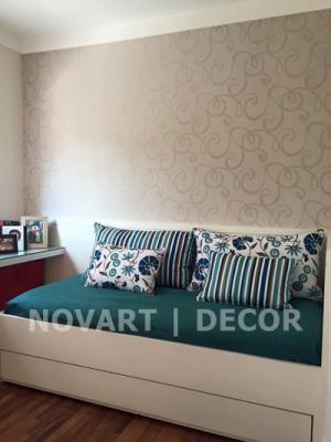 Papel de parede discreto para quarto de solteiro