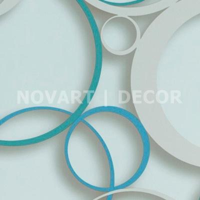 Papel de parede 3D círculos fundo claro