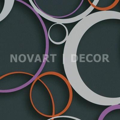 Papel de parede 3D círculos fundo preto