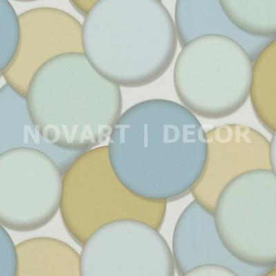 Papel de parede 3D círculos verde