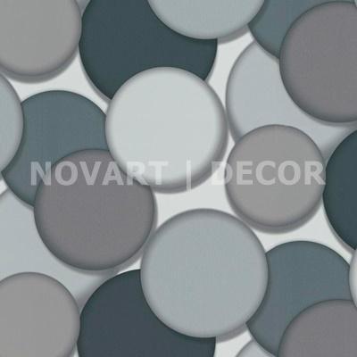 Papel de parede 3D círculos cinza