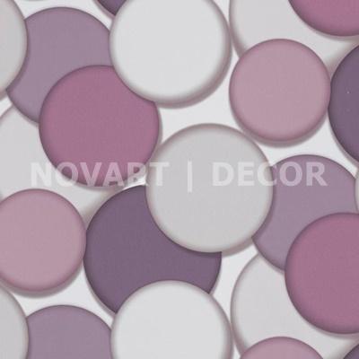 Papel de parede 3D círculos lilás