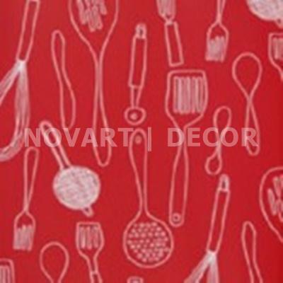 Papel de parede - Cozinha colher vermelho