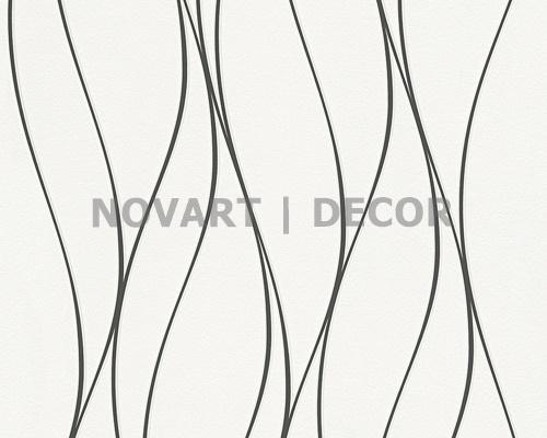 Papel de parede - Luminescência abstrato branco com preto