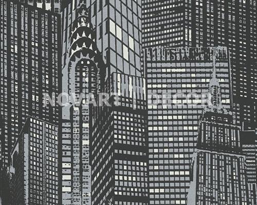 Papel de parede - Luminescência prédios noite