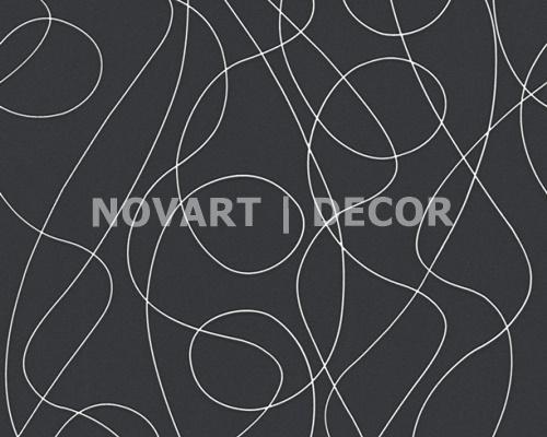 Papel de parede - Luminescência abstrato preto com branco
