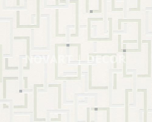 Papel de parede - Luminescência geométrico branco