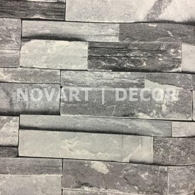 Papel de parede - Rústicos canjiquinha cinza