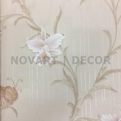 Papel de parede - Arabesco flor branca