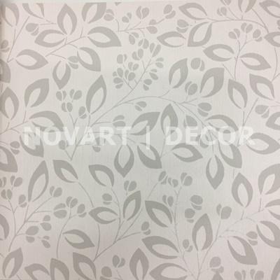 Papel de parede - Vintage folhas cinza